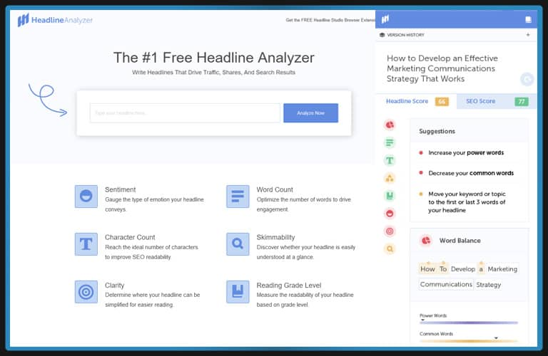 CoSchedule Headline Analyzer   Free SEO Tools For Content Optimization For SM&B Marketing