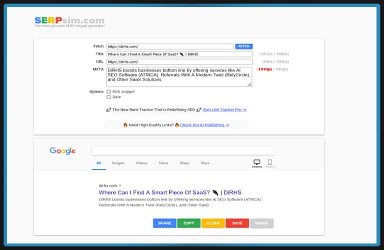 Serpism     Free SEO Tools For Content Optimization For SM&B Marketing